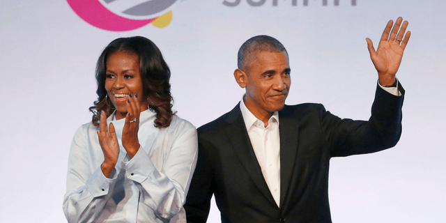 """The Obamas have unveiled a slate of projects in development for Netflix, a year after the former president and first lady signed a deal with the streaming platform. The Obamas' production company, Higher Ground Productions, announced a total of seven films and series that Barack Obama said will entertain but also """"educate, connect and inspire us all.""""(AP Photo/Charles Rex Arbogast, File)"""