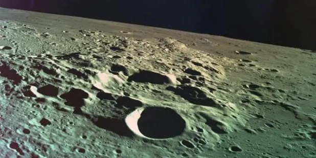 Beresheet captured this image of the Moon just before the spacecraft crashed into the lunar surface.