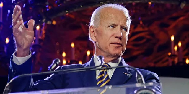 President Joe Biden speaks at the Biden Courage Awards in New York on Tuesday, March 26, 2019.  Biden released his first installment of judicial nominees on Tuesday.  (AP Photo / Frank Franklin II)