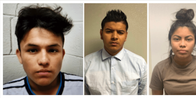 From left to right, Josue Fuentes-Ponce, Joel Escobar and Cynthia Hernandez-Nucamendi are charged with first-degree murder (George's County Police Department via AP)