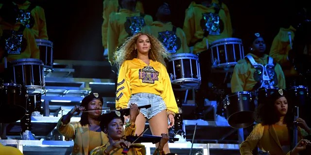 Beyonce performs onstage during 2018 Coachella Valley Music And Arts Festival Weekend 1 at the Empire Polo Field on April 14, 2018 in Indio, California.