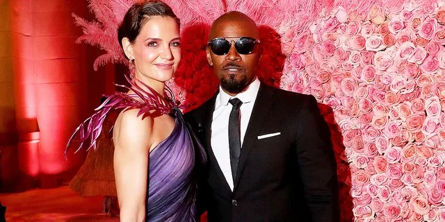 Katie Holmes and Jamie Foxx attend The 2019 Met Gala Celebrating Camp: Notes on Fashion at Metropolitan Museum of Art on May 6, 2019, in New York City.