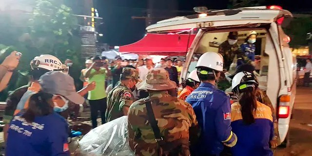 Rescuers on Monday were continuing to search the rubble of a building that collapsed while under construction in a Cambodia beach town.