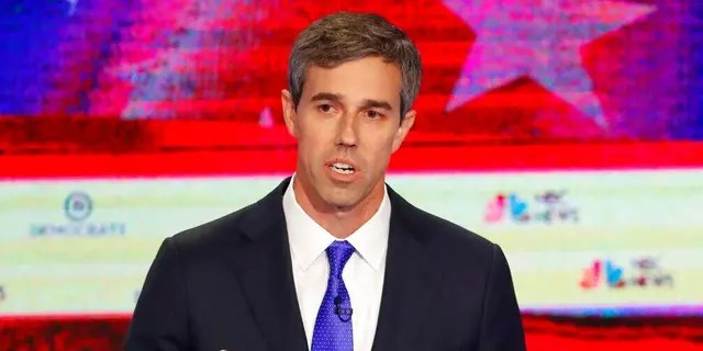 Democratic presidential candidate former Texas Rep. Beto O'Rourke gestures during a Democratic primary debate hosted by NBC News at the Adrienne Arsht Center for the Performing Arts, Wednesday, June 26, 2019, in Miami. (AP Photo/Wilfredo Lee)