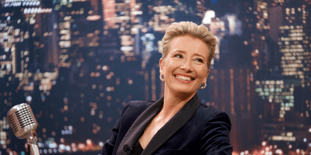 "This image released by Amazon Studios shows Emma Thompson in a scene from ""Late Night."""