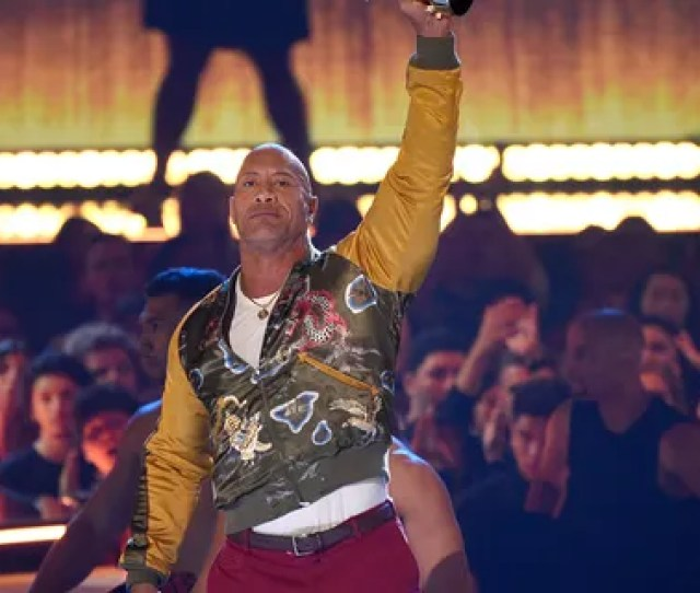 Dwayne Johnson Also Known As The Rock Accepts The Generation Award At The Mtv