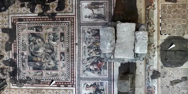 Mosaic discovered during well-digging. (Emre Arolat Architecture [EAA])