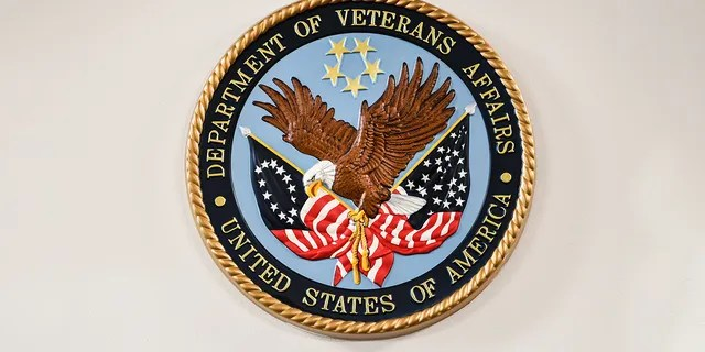 Logo of the Department of Veterans Affairs. (Photo by Salwan Georges/The Washington Post via Getty Images)
