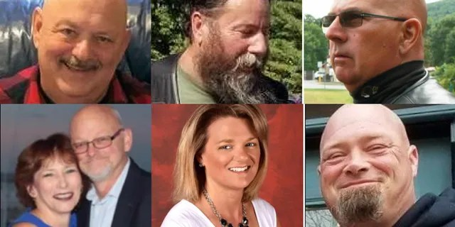 The victims of Friday's crash. Top row, left to right: Michael Ferazzi, Albert Mazza, Daniel Pereira. Bottom row, left to right: Joanne and Edward Corr, Desma Oakes, Aaron Perry.