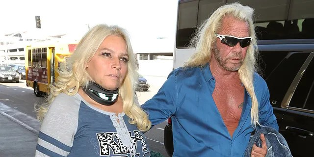 Duane Chapman, right, was most recently married to Beth Chapman, left, from 2006 until her death in 2019. He was married four times before marrying Beth.<strong></strong> The former pair are seen at LAX on Sept. 28, 2017 in Los Angeles.