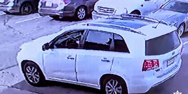 Authorities are looking for the gunman who was seen driving away in a 2006 white Kia Sportage SUV with paper plates.