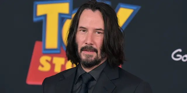 Keanu Reeves arrives at the world premiere of 'Toy Story 4' on Tuesday, June 11, 2019, at the El Capitan in Los Angeles.