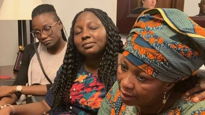 Rebecca Sharibu and other Nigerian female activists fighting for Christian rights in Washington this week