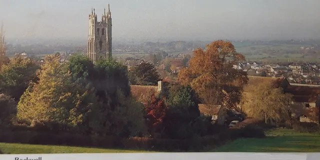 This postcard of St. Andrew's Church from the direction of Backwell Hill in Bristol, England may be