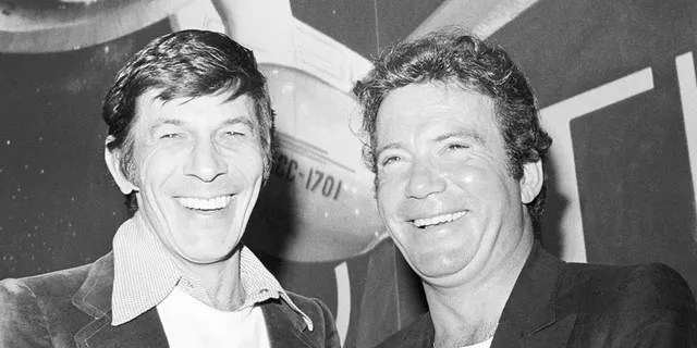 Leonard Nimoy and William Shatner in March 1978.