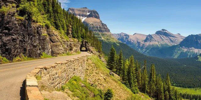 A 14-year-old was killed on Going-to-the-Sun Road in Glacier National Park in Montana on Monday when falling rocks in her vehicle, officials said.