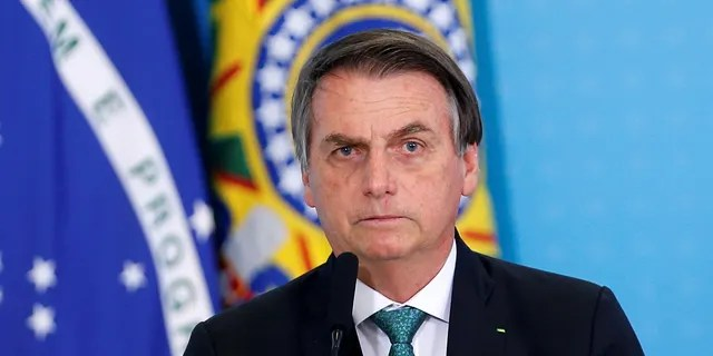 Brazil's president, Jair Bolsonaro, speaks during a ceremony to launch the new worker fund stimulus at the Planalto Palace in Brasilia, Brazil, July 24, 2019.