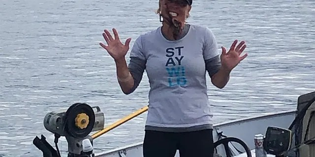 """Jamie Bisceglia described the pain of the octopus bite as """"intense,"""" adding that the bleeding lasted for 30 minutes."""