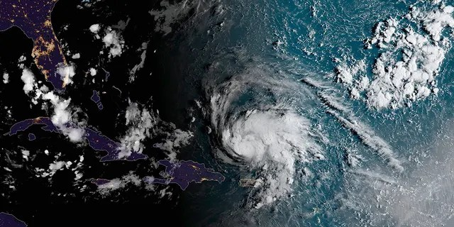 Hurricane Dorian can be seen in this satellite photo.