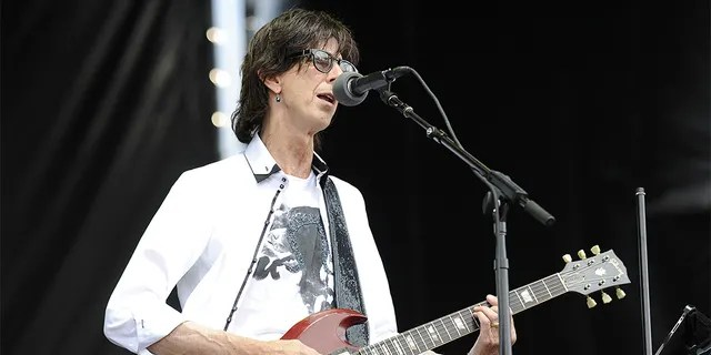 Ric Ocasek of The Cars perfoming at Lollapalooza 2011 at Grant Park in Chicago.