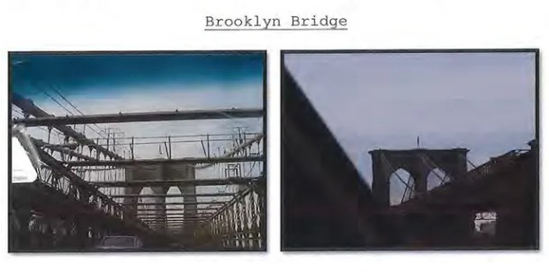 A photo of the Brooklyn Bridge. (Court documents)
