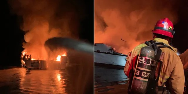 A tweet from VCFD said they responded to boat fire off the north side of Santa Cruz Island at approximately 3:28am.