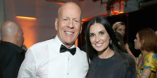 Bruce Willis and Demi Moore were married from 1987–2000 and have remained friends since their split.