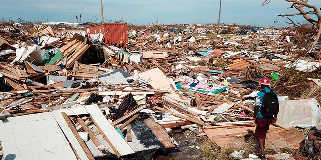 The extensive damage and destruction in the aftermath of Hurricane Dorian is seen on Great Abaco island in the Bahamas, on Thursday. (AP)