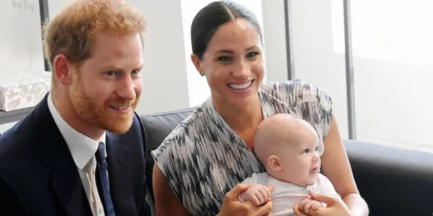 Prince Harry, Duke of Sussex, Meghan, Duchess of Sussex and their baby son Archie Mountbatten-Windsor during their royal tour of South Africa