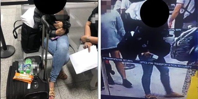 An American woman was detained at a Philippines airport after a 6-day-old baby was found in her carry-on. (Philippines Bureau of Immigration)