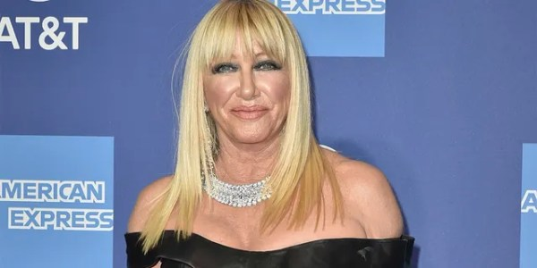 Suzanne Somers catches