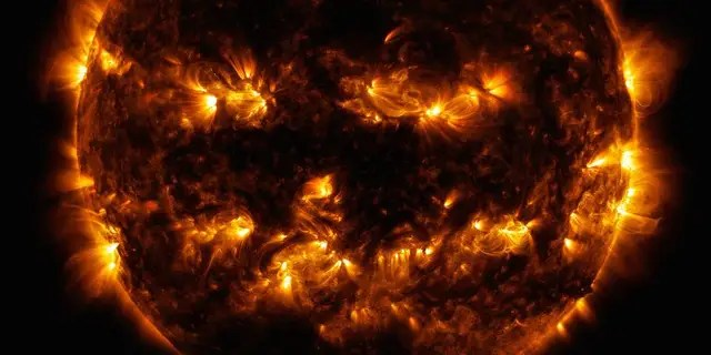 NASA took a photo of the sun in 2014.