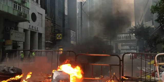 """""""We are here to fight for the freedom of Hong Kong,"""" one protester told Fox News."""