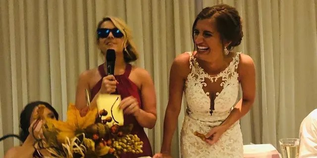 Bride surprised with chicken-nugget bouquet at Ohio wedding