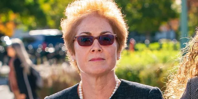 Former U.S. ambassador to Ukraine Marie Yovanovitch on Capitol Hill in October. (Associated Press)
