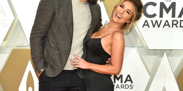 Jessie James Decker and her husband, Eric Decker, attend the 53rd annual CMA Awards at the Music City Center on November 13, 2019 in Nashville, Tennessee.
