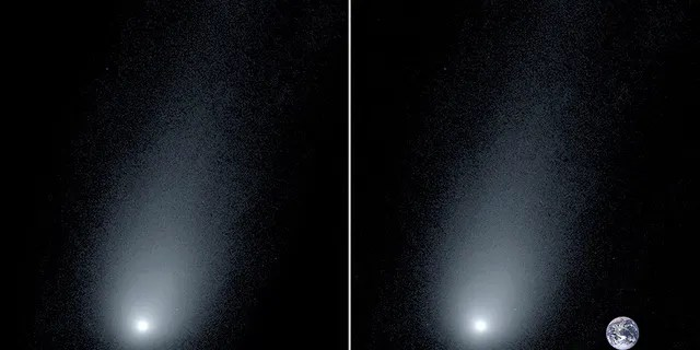 Fox news today: Left: A new image of the interstellar comet 2l/Borisov. Right: A composite image of the comet with a photo of the Earth to show scale. (Pieter van Dokkum, Cheng-Han Hsieh, Shany Danieli, Gregory Laughlin)