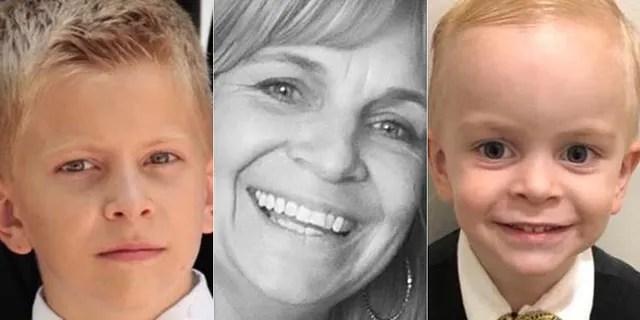 From left: Trevor Harvey Langford, 11; Dawna Ray Langford, 43; and Rogan Jay Langford, 2.