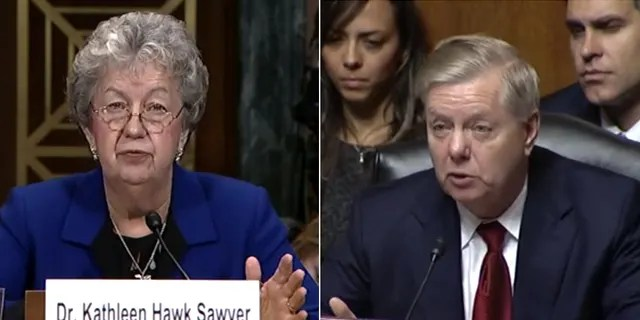 Kathleen Hawk Sawyer, the director of the Federal Bureau of Prisons, was grilled by Sen. Lindsey Graham, R-S.C., and others Tuesday during a hearing on Capitol Hill.