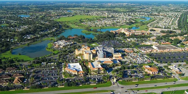 Mid-air view of the suburban community of The Villages, near Orlando, Florida.