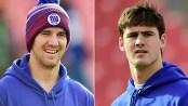 Eli Manning, Daniel Jones, enjoy drinking games at Hoboken bar following Giants win