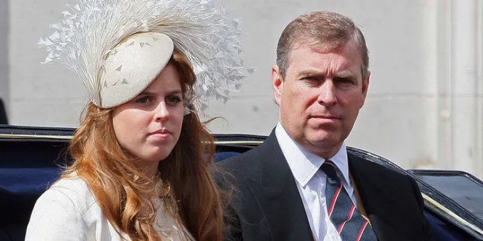 El príncipe Andrew, duque de York, con su hija, la princesa Beatriz.