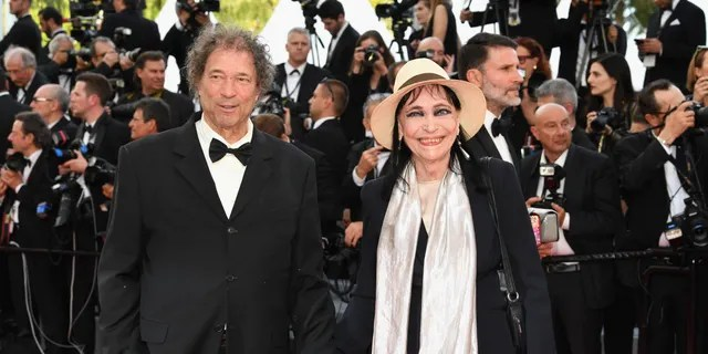 Maurice Cooks and Anna Karina attend the  71st annual Cannes Film Festival at Palais des Festivals in 2018. (Photo by Pascal Le Segretain/Getty Images)