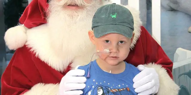 Santa even made a special stop to say hello to the children at the hospital.