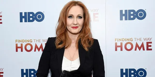 Author J.K. Rowling's new book,