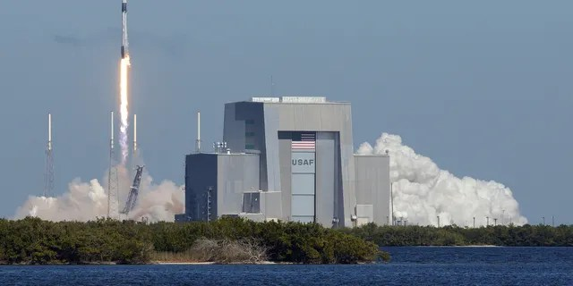 December 5, 2019 - Cape Canaveral, Florida, United States - A SpaceX Falcon 9 rocket carrying a Dragon cargo capsule with supplies for the International Space Station launches successfully from pad 40 at Cape Canaveral Air Force Station.