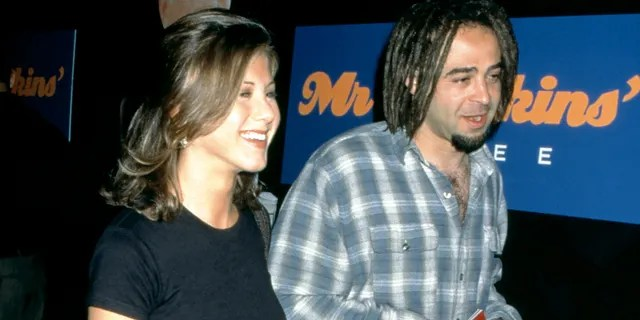 Jennifer Aniston and American musician Adam Duritz attend the