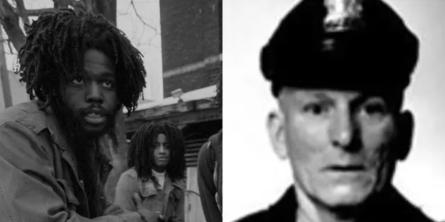 Delbert Orr Africa, left, served more than four decades in prison in connection with the shooting death of Philadelphia police Officer James Ramp. (Getty Images/Philadelphia Police Dept.)
