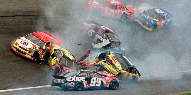 Big multicar crashes, like this one in 1999, are a common occurrence in the Daytona 500.