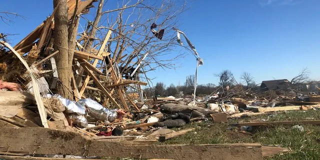 A subdivision near McBroom Chapel Road in Putnam County, Tennessee, was almost completely destroyed by a tornado that blew through on Tuesday morning, March 3, 2020 before dawn.